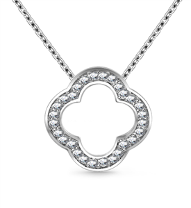 9ct White Gold Designer Diamond Pendants