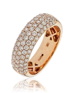 Image for Elegant Round Diamond Multi Row Dress Ring