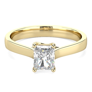 Image for Modern Radiant Diamond Engagement Ring