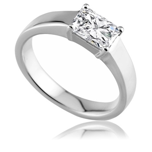 Image for Unique Modern Radiant Diamond Engagement Ring
