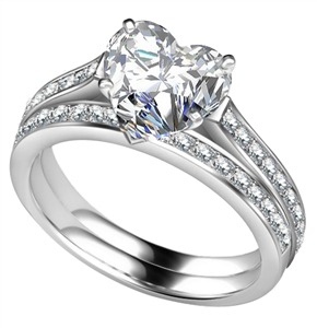 Buy Heart Engagement Rings Online
