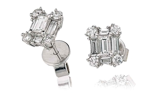 Image for Classic Diamond Cluster Earrings