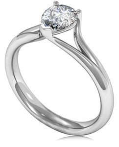 Image for Unique Modern Pear Diamond Engagement Ring