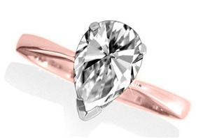 Image for Classic Pear Diamond Engagement Ring