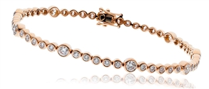Buy Round 18ct Rose Gold Diamond Bracelets