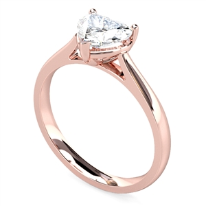 Image for Classic Heart Diamond Engagement Ring
