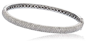 Image for Elegant Encrusted Round Diamond Set Bangle