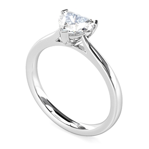 Image for Elegant Heart Diamond Engagement Ring