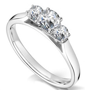 Image for Unique Loop Round Diamond Trilogy Ring