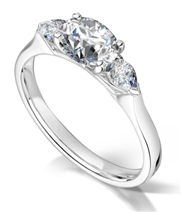 Image for Unique Oval & Pear Diamond Trilogy Ring