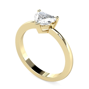 Image for Traditional Heart Diamond Engagement Ring