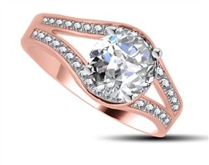 18ct Rose Gold Designer Diamond Rings