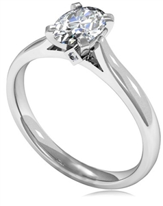 Image for Unique Oval Diamond Engagement Ring