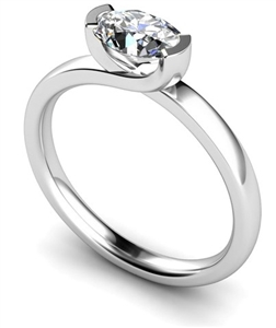 Image for Unique Twist Oval Diamond Engagement Ring