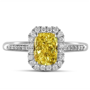 Radiant Yellow Diamond Engagement Rings