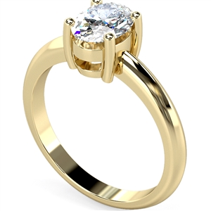 Image for Knife Edge Oval Diamond Engagement Ring