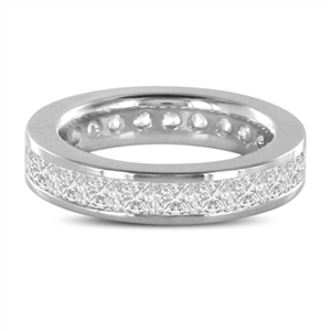 Image for Elegant 4.5mm Princess Diamond Full Eternity Ring