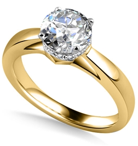 Image for Stylish Side Halo Round Diamond Engagement Ring