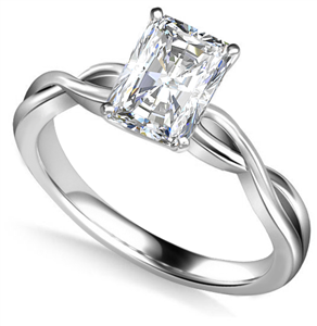 Image for Infinity Love Swirl Radiant Diamond Engagement Ring
