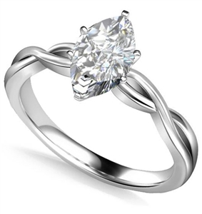 Image for Infinity Love Swirl Marquise Diamond Engagement Ring