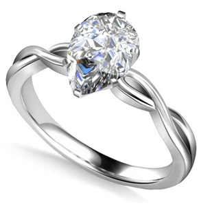 Image for Infinity Love Swirl Pear Diamond Engagement Ring