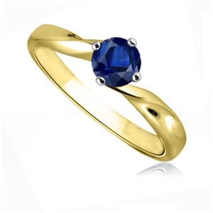 Image for Blue Sapphire Solitaire Ring