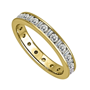 Image for 2.5mm Round & Baguette Diamond Full Eternity Ring