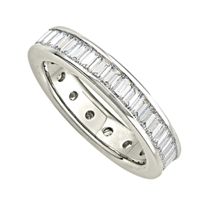 Image for 1.00ct Classic Baguette Diamond Full Eternity Ring