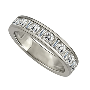 Image for 4mm Round & Baguette Diamond Eternity Ring