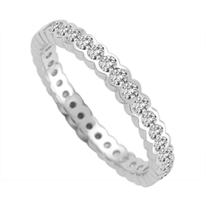 18ct White Gold Full Prong Eternity Rings