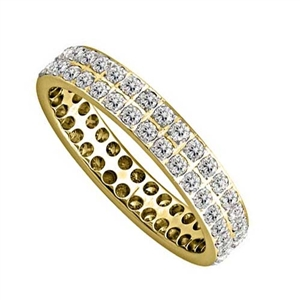 18ct Yellow Gold Full Pave Eternity Rings