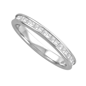 Image for 3mm Elegant Princess Diamond Full Eternity Ring