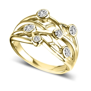 18ct Yellow Gold Diamond Dress Rings