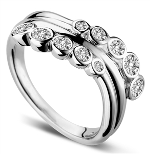 Image for Unique Round Diamond Bubble Dress Ring