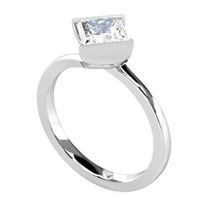 Image for Modern Princess Diamond Twist Engagement Ring