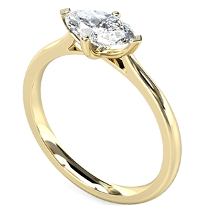 Image for East West Marquise Diamond Engagement Ring