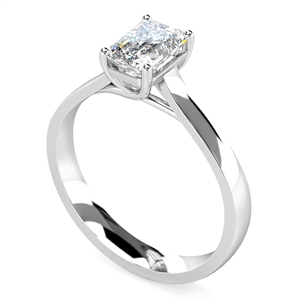 Image for Modern Emerald Diamond Engagement Ring