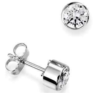 Image for Halo Round Diamond Stud Earrings