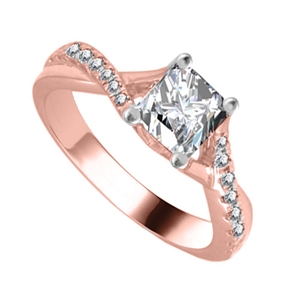 Image for Infinity Twist Princess Diamond Engagement Ring