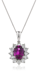 Buy Gemstone & Diamond Pendant Online