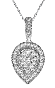 Image for Pave Set Round Diamond Designer Pendant