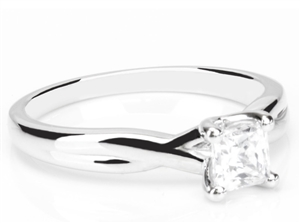 Image for Modern Infinity Princess Diamond Engagement Ring
