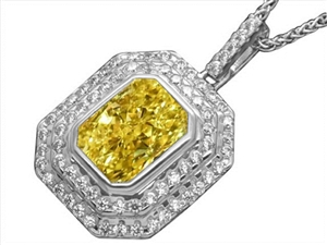 Buy Yellow Diamond Pendant Online