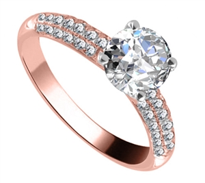Image for Unique Vintage Round Diamond Ring