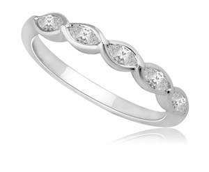 Platinum Marquise Diamond Eternity Rings