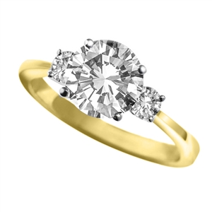 Image for Unique Round Diamond Trilogy Ring