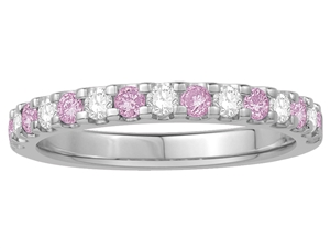 Image for 2.5mm Pink Sapphire and Diamond Eternity Ring