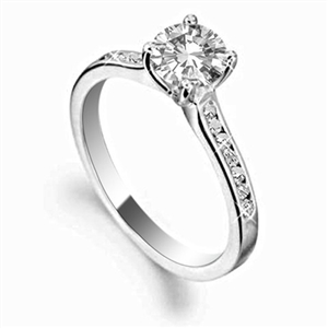 Platinum Shoulder Set Diamond Rings