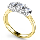 Image for Lavish Round Diamond Trilogy Ring