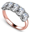 Image for 5 Stone Oval Diamond Half Eternity Ring